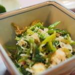 24437158 - 小鉢で出てきた菜の花と蟹肉の和え物