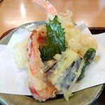 明水亭 - 天ぷら盛合せ