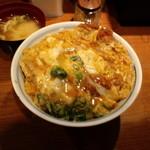 とん亭 - かつ丼玉子W+味噌汁(2011,10)