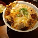 とん亭 - かつ丼玉子W+味噌汁(2011,5)