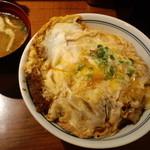 とん亭 - かつ丼玉子W+味噌汁(2010,9)