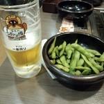 道とん堀 - ビールと枝豆