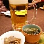黒タン屋 だん - ビール&お通し