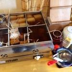 麺工房こうき - おでんは、出汁の良い香りが漂っていました。