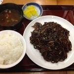 トシヤ - そば焼き定食700円