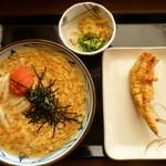 丸亀製麺 - 明太あんかけうどん