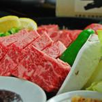 焼肉 しちふく - 料理写真:特撰厚切り肉3種盛り 3480円