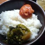 24445720 - ご飯+明太子+高菜