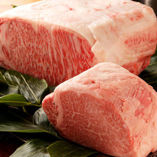最上霜降黒毛和牛のステーキ