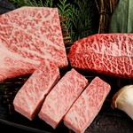 焼肉の龍園 - 熊本あか牛 盛り合わせ