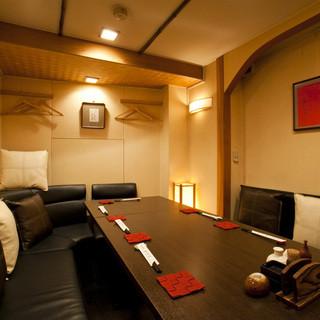 完全個室:6名様までのソファー席がございます☆