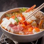 魚介たっぷりシシリアントマト鍋