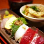 魚猿 - ランチ 越後セット(980円)