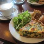 パーラー江古田 - ほうれん草とリコッタチーズのキッシュセット