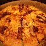 魚Den - キムチチヂミ。というよりピザ・・。