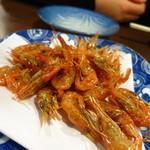 観音食堂 - 川えび唐揚げ600円