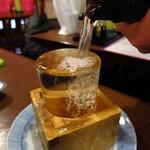 観音食堂 - (神奈川茅ヶ崎)天晴純米酒800円