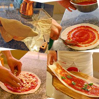 見て楽しい手作りピザ♪
