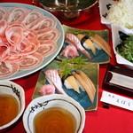 魚菜えぼし庵・隠座 - えぼし庵・穏座/豚ねぎ汁しゃぶ/超満腹コース