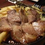 肉バル グランデ - 5)大山豚ロース香草焼き(580円:税別)