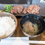 青葉亭 - 牛たん定食 MIX 980円