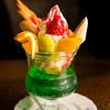 ロータリー - 料理写真:上がパフェ、下がソーダ水の夢アイス