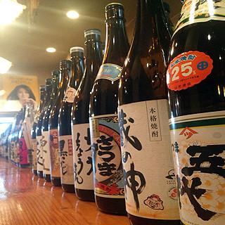 地酒・焼酎・梅酒・サワー品数豊富に取り揃えております!