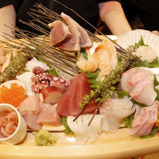 産地直送の新鮮魚介をご用意しております。