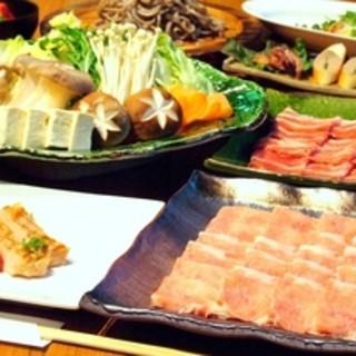 【宴会にもぴったり!】金華豚・三元豚しゃぶしゃぶコース