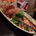 京町家 七色 - トロサーモンと貝柱のカルパッチョ