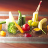Takumaruyama - 料理写真:野菜八寸  道産の有機栽培の野菜を中心に15種類ほどが一皿に。