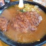 味処 じんべ - とんかつラーメン(味噌)