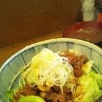 24502974 - レバすた丼 570円