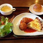 Kitchen Le ciel - キッシュ&カニクリームコロッケランチ