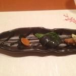 和創作 瑞楽 - 1品目の前菜です。からすみ食べるの久しぶり。お酒が進みます。