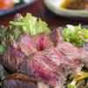 ぱいかじ - 料理写真:お口の中に旨みが広がる『石垣牛ぶっかけネギおろしステーキ』 A5ランクの石垣牛を使用。柔らかなお肉に和風の味付けがマッチした一品です。