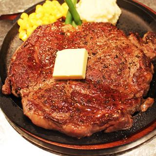 満足感120%の肉厚ステーキ