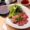 肉男 - 料理写真:イチオシ!【仙台牛のレアテキ】は赤ワインとどうぞ。