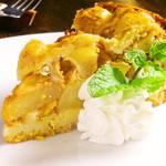 希志庵 - 【アップルパイ 】アップルパイは注文後に焼いてくれる。出来立てのアツアツをいただこう♪お店自慢の自家製デザート。