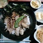 渚砂丸 - ランチ。限定2食のカキ丼。カキの大きさと多さにびっくりです。