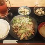 博多八郎 - 豚ばら塩ネギ¥480