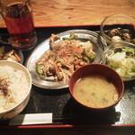 博多八郎 - ゴーヤチャンプル\500