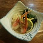 一楽そば処 - 料理写真:「カニ酢」450円