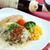 レストランせんごく - 料理写真:せんごくのチーズハンバーグはワインとの相性が抜群!お酒の種類も今年から増えましたのでぜひご賞味くださいませ。
