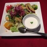 24537718 - ランチメニューのサラダ&スープ