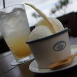 島野菜カフェ Re:Hellow BEACH - ヨーグルトシャーベット