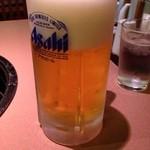 炭火焼肉 明翠園 - 生ビール(大)