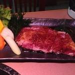 炭火焼肉 明翠園 - 国産リブロース(200g)