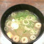 餃々 - 味噌汁