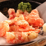 酒飯場 さかもと - 紅しょがの天ぷらはお酒のあてに最適です♪